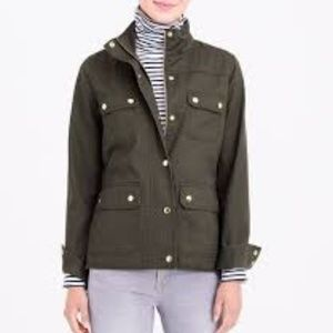 J. Crew Resin Coated Twill Jacket